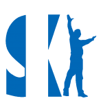 Ski logo blue