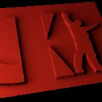 SKI 3D RED 1